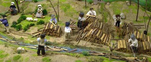 travail en forêt (Confrérie Saint-Nicolas Clamecy)